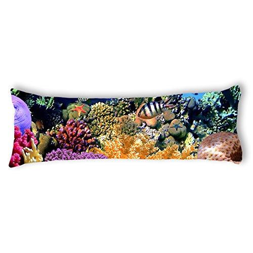 AILOVYO Sea Creatures Silky Soft Satin Pregnancy Body Pillow Cover Pillowcase, 20