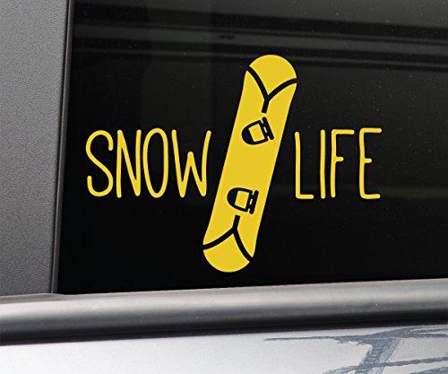 - Snow Life Snowboarding Snowboard Vinyl Decal Laptop Car Truck Bumper Window Sticker, 5