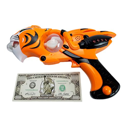 Imprints Plus Tiger Blaster Blaster LED Toy Gun, 3 AA Batteries and Non-Negotiable Liberty Bill (5 Piece Bundle)