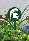 Authentic Street Signs Spring STEEL Garden Stakes (Michigan State Spartans- Green)