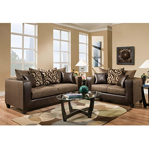 Flash Furniture Riverstone Object Espresso Chenille Living Room Set Chenille Living Room Set