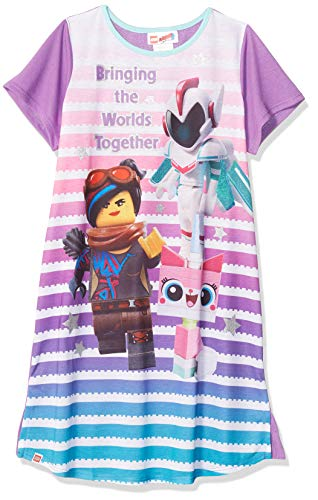 LEGO Big Movie 2, Short Sleeve Girls Pajama Dorm W/Glitter