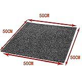 Nisorpa Commercial Carpet Floor Tiles Dark Grey