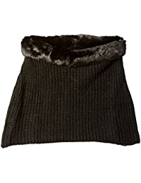 Women's Chunky Over The Shoulder Neck Warmer with Faux Fur Trim