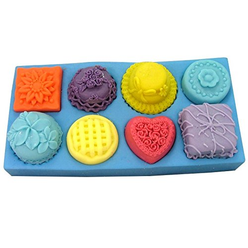8 Fancy Candy Shapes Chocolate Candy or Soap Mold