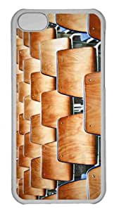 Customized iphone 5C PC Transparent Case - Wooden Chairs Personalized Cover