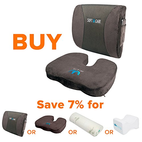 Soft Amp Care Seat Cushion Coccyx Orthopedic Memory Foam And