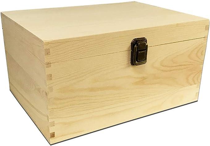 Cestos Y Cubos Organizador De Caja De Madera Para Caja De Regalo Artesanal Decoración Del Hogar Caja De Madera Sin Terminar De 2 Piezas Caja De Almacenamiento De Madera Con Cierre De