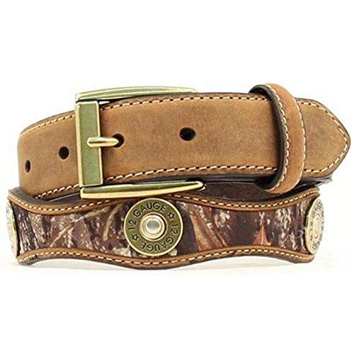 Nocona Boy's Mossy Oak Shotgun Shell Conchos Belt, Mossy Oak, 22