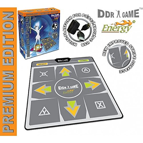 Energy Non-Slip Dance Pad for PC/ Wii/ PS2/ PS1/ Xbox (Bulk) - DDR Game (Pad Dance Edition Premium)