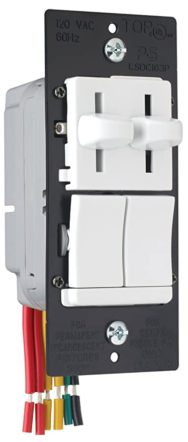 Legrand - Pass & Seymour LSDC163PWV Dual Control Slide Preset Single ...