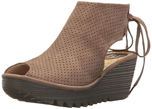 Fly London Womens Ypul799fly Wedge Sandal Taupe Cupido