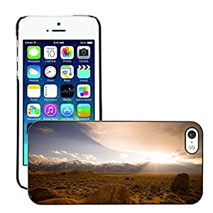 Hot Style Cell Phone PC Hard Case Cover // M00306878 Rocks Boulders Plane Mountain Range // Apple iPhone 5 5S 5G