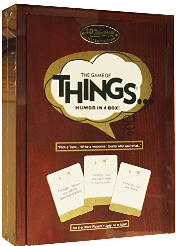 The Game of Things.. Humor in a Box! 10th Anniversary Limited Edition Wood Book Collection