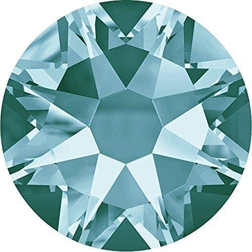 2000, 2058 & 2088 Swarovski Flatback Crystals Non Hotfix Light Turquoise | SS30 (6.4mm) - 40 Crystals | Small & Wholesale Packs | Free - Ss30 Light