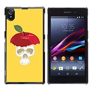 YOYOSHOP [Funny Apple Skull Illustration] Sony Xperia Z1 L39h Case by Maris's Diary