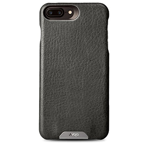 wholesale dealer b8701 f9fc9 Vaja Leather Case for iPhone 7 Plus - Polycarbonate Frame - Vegetable  tanned leather - Bridge Charcoal