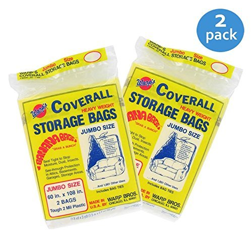- Warp Brothers CB-60 Banana Bags 4-Count Storage Bags, 60-Inch by 108-Inch