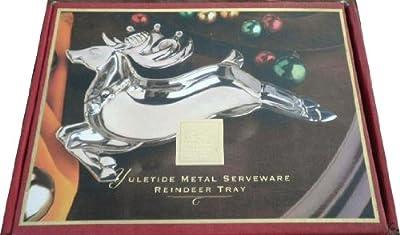 Lenox Yuletide Metal Serveware Reindeer Tray