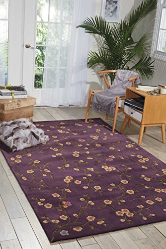 Nourison Julian (JL27) Lavender Rectangle Area Rug, 3-Feet 6-Inches by 5-Feet 6-Inches (3'6