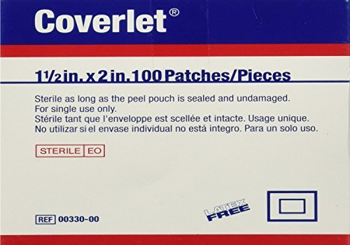 Coverlet Fabric Shapes Patch 1-1/2 x 2 (Box of 100) by Wound (Coverlet Fabric Shapes Patch)