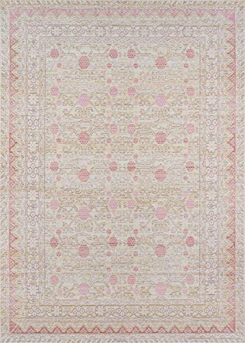 Momeni Rugs ISABEISA-3PNK2030 Isabella Traditional Oriental Flat Weave Area Rug, 2'0