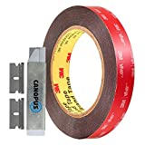 CANOPUS Double Sided Tape, (0.75 in x 15 ft), Heavy