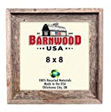 BarnwoodUSA Rustic Farmhouse Signature Picture Frame – Our 8×8 Picture Frame can be Mounted Horizontally or Vertically and is Crafted From 100% Recycled and Reclaimed Wood | No Assembly Required Review