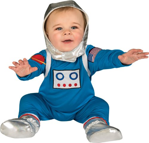 Rubie's Costume Baby's First Halloween Astronaut One-PieceJumper Headpiece and Booties, Multicolor, 6-12