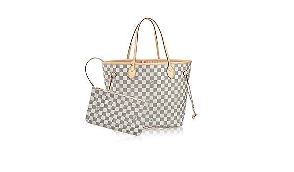 e7ff9325396 Louis Vuitton Damier Azur Canvas Rose Ballerine Neverfull MM N41605:  Amazon.ca: Shoes & Handbags