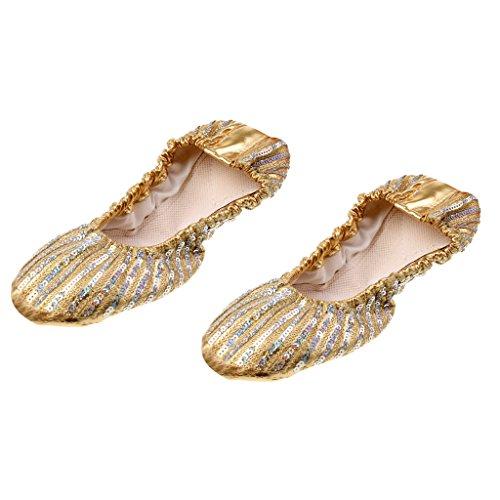 Et Ipotch De Or Femmes Souple Cuir Chaussures Ballet Danse En 66S8rnU