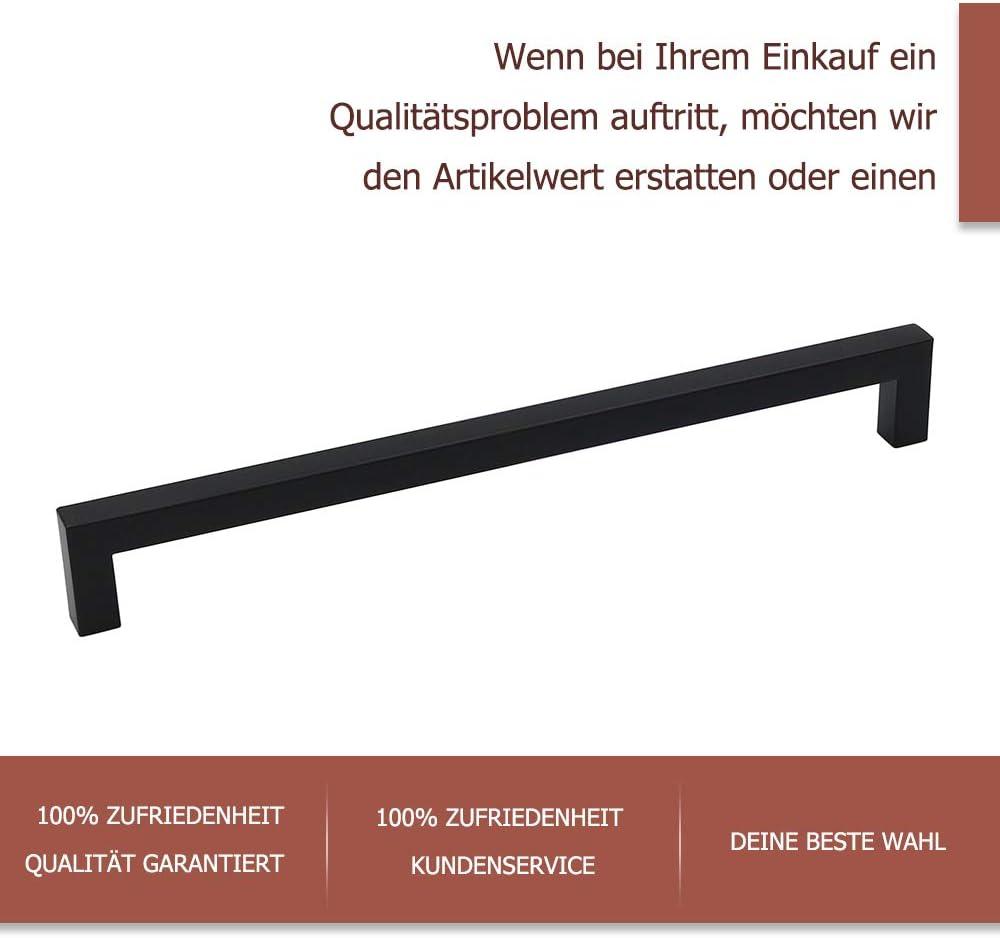 Noir poign/ée de meuble en acier inoxydable poign/ée /à tige/ /Poign/ées lsj12bk Cuisine poign/ée armoire tiroir poign/ées Poign/ée carr/é