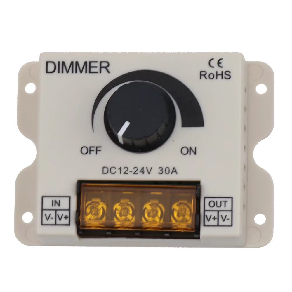 LEDENET PWM LED Dimmer Controller Knob ON/OFF Switch with Aluminum Housing, 30A Dimming for Single Color 5050 3528 5730 2835 5630 LED Strip Lighting