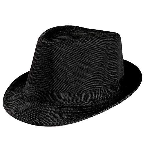 shijunli Summer Unisex hat top hat British Gentleman hat Linen Jazz hat