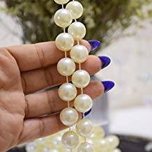 14mm Large Ivory Pearls Faux Crystal Beads by the Roll for Wedding Decoration