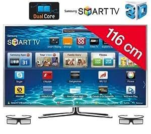 "Samsung UE46ES6900 LED TV - Televisor (116,84 cm (46""), Full HD, 1920 x 1080 Pixeles, Analógico y Digital, DVB-C, DVB-S2, DVB-T2, Skype) Plata"