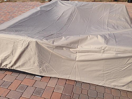 Exceptional Dola Large Outdoor Sofa Sectional Cover Square Waterproof Heavy Duty  Measuring 126 Inches, Patio Furniture Cover In Beige
