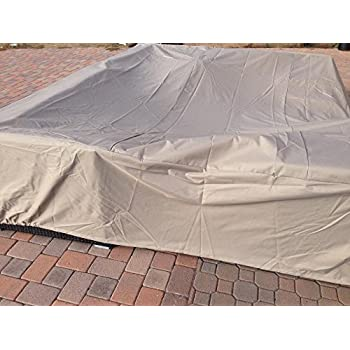 Dola Large Outdoor Sofa Sectional Cover Square Waterproof Heavy Duty  Measuring 126 Inches, Patio