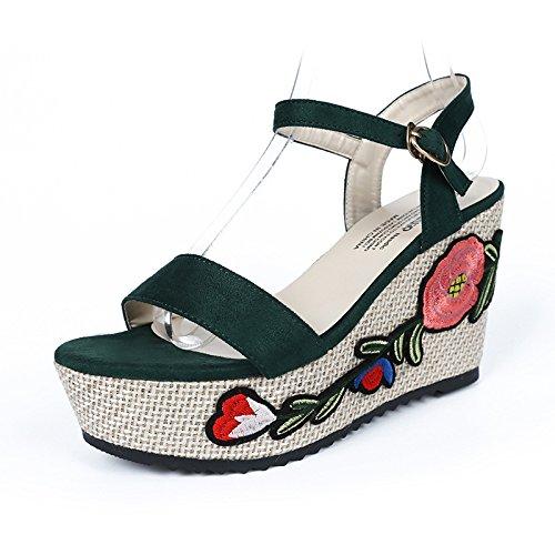 seven pendenza alti con tacchi sandali toed Donyyyy e Ricamati Thirty xBW6nFHqz