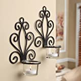 Best Mainstay Mainstays Candle Scents - Mainstays Scroll Wall Sconce Candleholders, Set of 2 Review