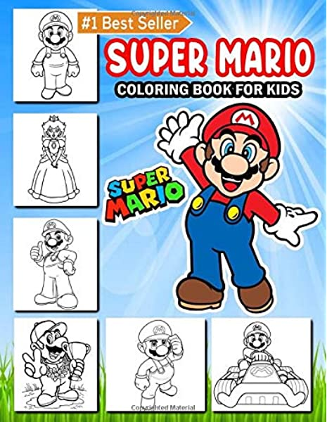 Super Mario: Coloring Book For Kids 50 Super Mario, Princes, Luigi,  Donkey Kong, Yoshi Coloring Pages Super Mario Coloring Book For Teens Super  Mario Characters (Unofficial): Production, Green: 9798645041953:  Amazon.com: Books