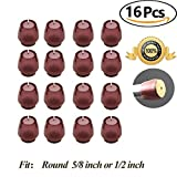 Best Chair Glides for Tile Floors Chair Leg caps Wood Floor Protectors with Felt Furniture Pads, Chair Feet Glides Furniture Carpet Saver, Silicone/Rubber Caps Tips,Fit Round 1/2 inch to 5/8 inch 16 Pack