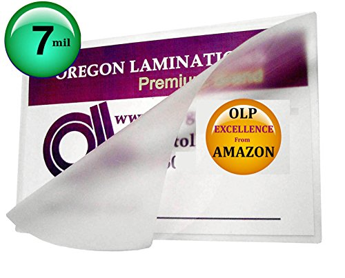 7 Mil Double Letter Laminating Pouches 11-1/2 x 17-1/2 Qty 100 Laminator Sleeves by Oregon Lamination Premium (Image #1)