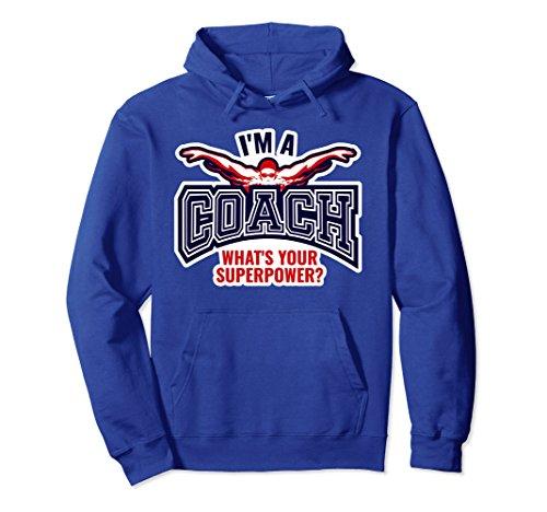 Unisex Funny Swim Coach Sweatshirt For Women Gift Top 2XL Royal Blue Coach Womens Sweatshirt