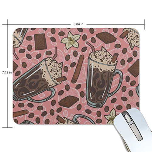 Fashion Retro Unique Custom Mousepad Cup Cake Dessert Snack Color Printing Non-Slip Rectangle Natural Rubber Fabric Mouse Mat Gaming Mouse Pad