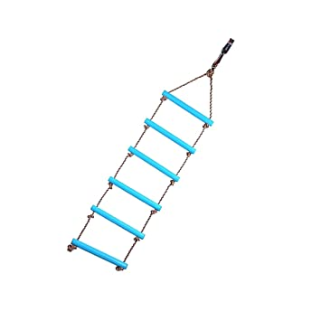 Sharplace 6 Peldanos Cuerdas Escalada Escalera Juguetes Interior Y