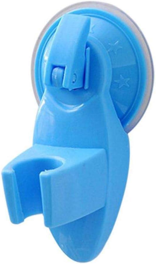 Woudery バスルームシャワースプリンクラー ホルダー 調節可能 強力吸盤 シャワーヘッドブラケットスタンド シャワー取り付けノズル オレンジ One Size ブルー 7-geake635-3