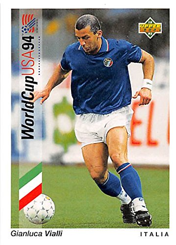 Gianluca Vialli trading card (Soccer Football Italy) 1993 Upper Deck World Cup #85 1993 Upper Deck Football Card
