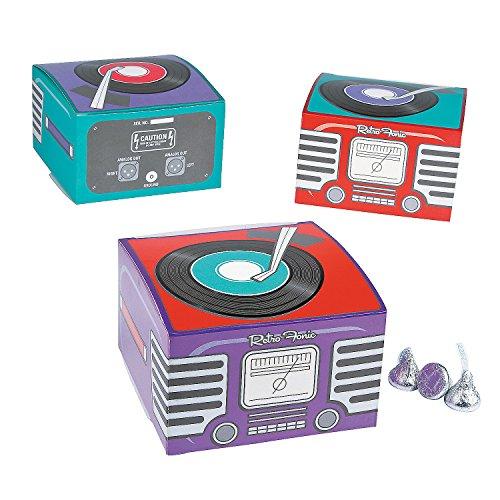 12 Mini Rockin' 50's Fifties Record Player Retro Gift Boxes