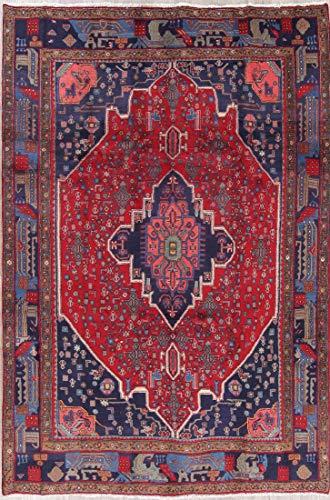 (Bidjar Wool Hand Made Traditional Persian Red Oriental 7x10 Area Rug (9' 10